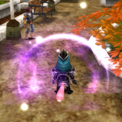 Regular and Normal Purple Flame Spirit effects.