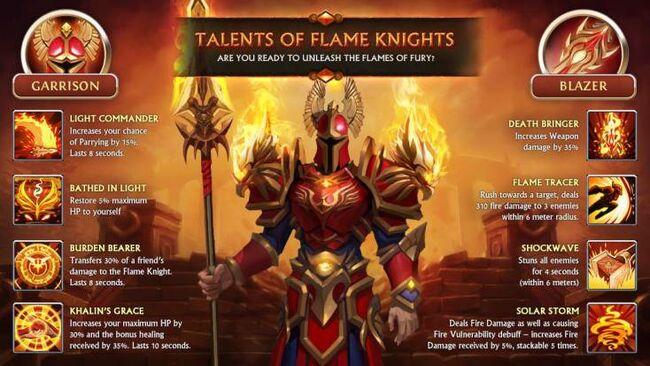 FlameKnight promo talents