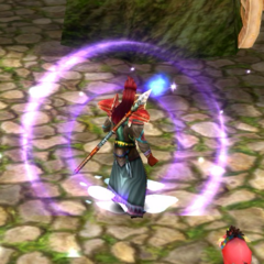 High-Quality Purple Flame Spirit effect.