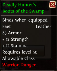 Deadly hunters boots of the swamp