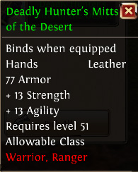 Deadly hunters mitts of the desert