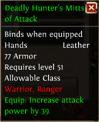 Deadly hunters mitts of attack