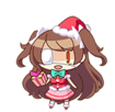 Ando Rena (School Swimsuit Santa version) chibi