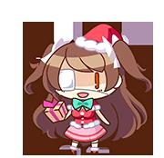 Ando Rena (School Swimsuit Santa version) chibi