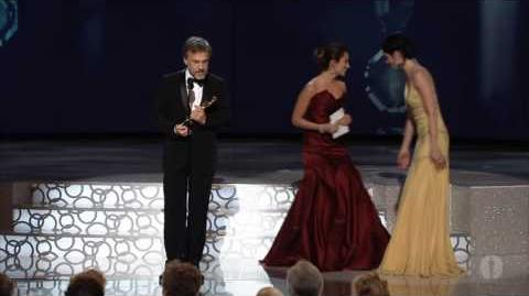 Christoph Waltz winning Best Supporting Actor