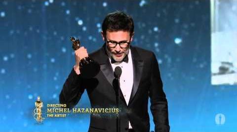 Michel Hazanavicius Wins Best Director 2012 Oscars