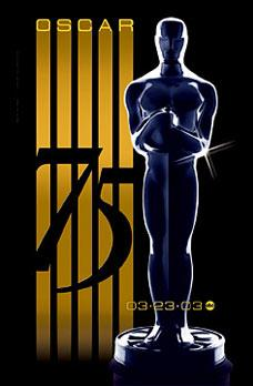 75th Academy Awards ceremony poster