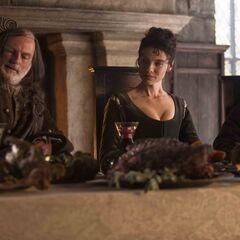 Colum MacKenzie (Gary Lewis); Claire Randall (Caitriona Balfe); Dougal MacKenzie (Graham McTavish)