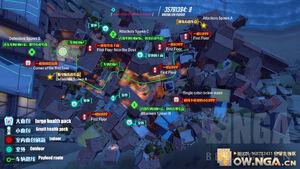 Dorado overhead map