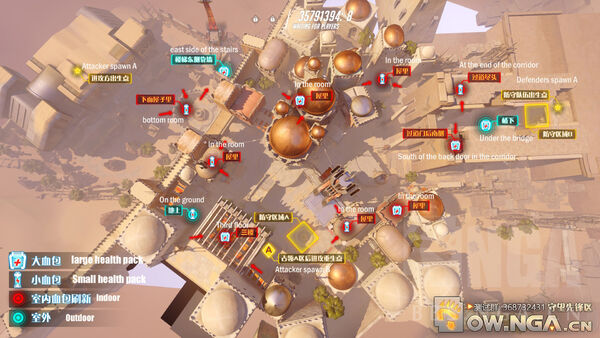 Temple of Anubis overhead map