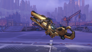 Zarya frosted golden particlecannon