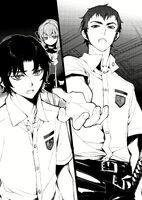 LN Kureto, Guren, and Shinoa after Mahiru's broadcast
