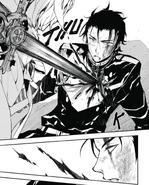 Mika stabs Guren