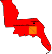 Confederate of Dixeegee Map