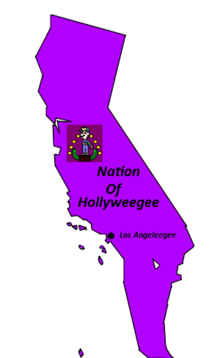 Nation of Hollyweegee Map