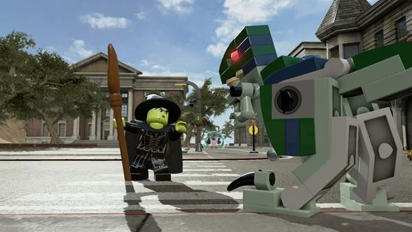 File:Lego Dimensions The Wicked Witch of the West with Blue the Velociraptor from Jurassic World.jpg
