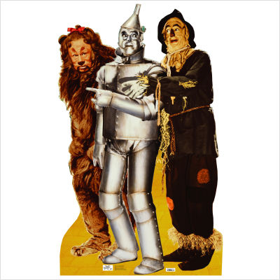 File:The Wizard of Oz - Lion, Tinman and Scarecrow Life-Size Cardboard Stand-Up.jpg