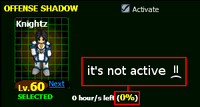 Support-not-active