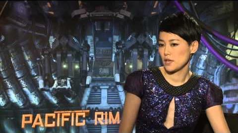 Pacific Rim Rinko Kikuchi Interview - Idris Elba, Charlie Hunnam, Guillermo del Toro (2013)-0
