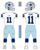 Cowboys white uniform