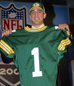 Aaron Rodgers Draft day