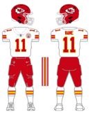 Chiefs white uniform