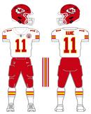 Chiefs white uniform