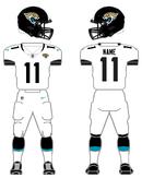 Jacksonville Jaguars road uniform 2013