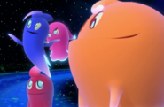 Inky Blinky Pinky and Clyde in space