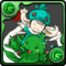 No.734  -{緑チョコボ&チョコボ士}-(綠色陸行鳥&陸行鳥士)