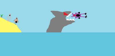 Shark eats Zorgu