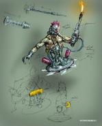 Concept art of Biomechanoid