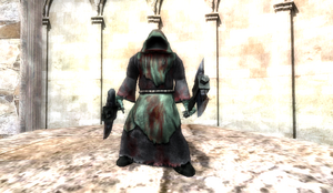 Enhanced Evil Monk in Cathedral