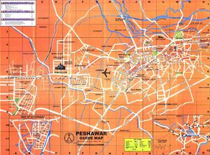 Pakistan Map Peshawar 001