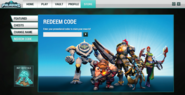 Store interface Redeem Code