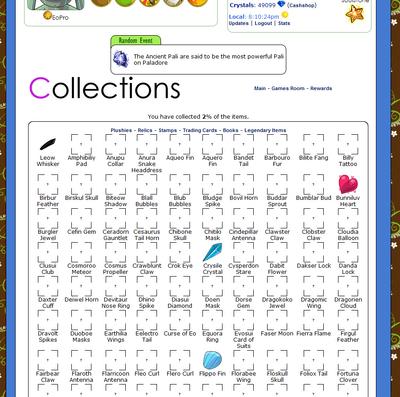 Paladore collections screenshot