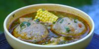 Soup with Plantain Balls