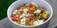 Ceviche de Corvina al Curry