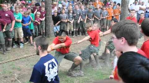 Paoli 1 v. Troop 78 in Tug-of-war Paul Bunyan 2012
