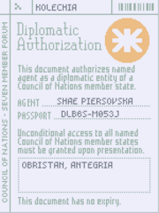 Invalid diplomatic authorization