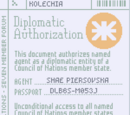 Diplomatic Authorization