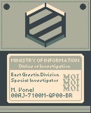 Vonel badge