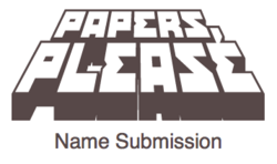 Name submission