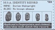 M.O.A identity record