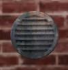 Medium rusted Round Vent