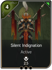 Silent Indignation card