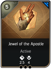 Jewel of the Apostle card