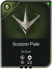Scorpion Plate card