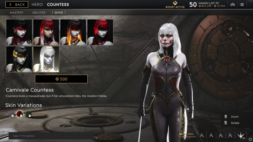 Countess Red Carnivale skin