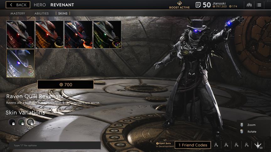 Revenant Lunar Raven Quill skin